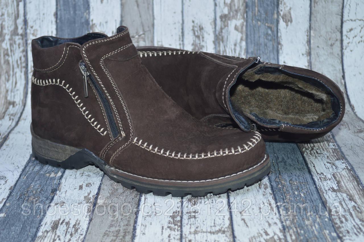 083be8b4b ... Мужские замшевые зимние ботинки на молнии, натуральный мех , фото 4 ...