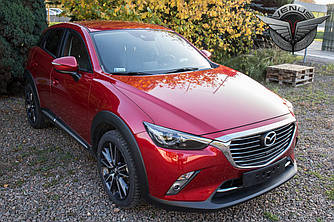 Хром молдинг накладка на капот Mazda CX-3