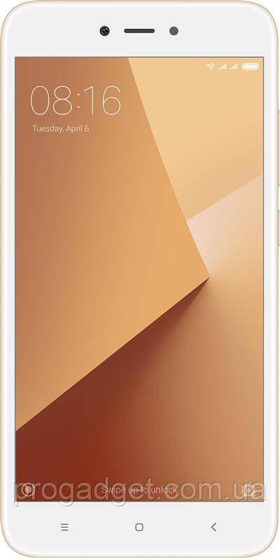Xiaomi Redmi Note 5A 3/32 prime Gold (золотой) Global Version 5,5 ihcn HD, камеры 13 и 16 Мp - селфи-смартфон