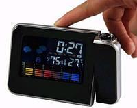 Будильник метеостанция с проектором времени 8190