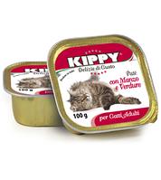 Консервы (Киппи) KIPPY Cat ГОВЯДИНА/ОВОЩИ 100г - паштет для кошек