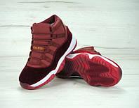 Кроссовки женские Nike Air Jordan KD-11354 Материал замш. Бордовые