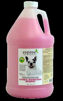 Espree Oatmeal Baking Soda Shampoo, 3,79 л - шампунь с протеинами овса и пищевой соды для кошек и собак