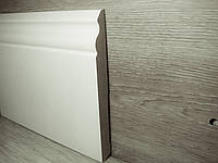 Плинтус для пола МДФ Белый высокий под покраску, Италия 14,2х140х2400мм