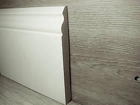 Плінтус для підлоги МДФ Білий високий під фарбування, Італія 14,2х140х2400мм