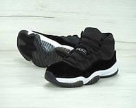 Кроссовки женские Nike Air Jordan KD-11325 Материал замш. Черные