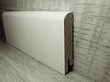 Плінтус підлоговий білий дерев'яний 15*70*2400мм, ламінована RAL9010, фото 2