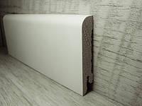 Плинтус белый для пола деревянный шпонированный RAL9003 15*70*2400мм