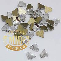 Стразы для инкрустации Сердце, цвет Crystal, 6mm*1шт
