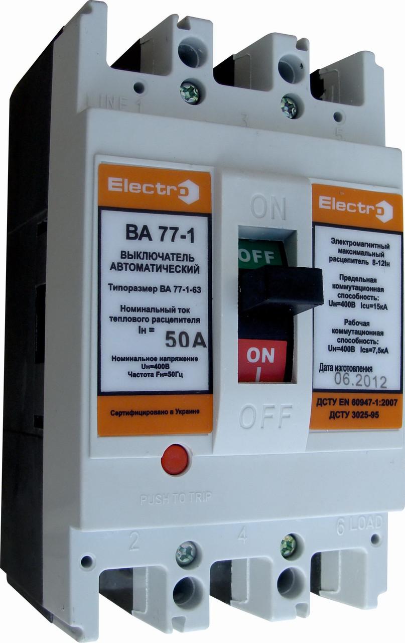 Автоматический выключатель ВА 77-1-125 16А