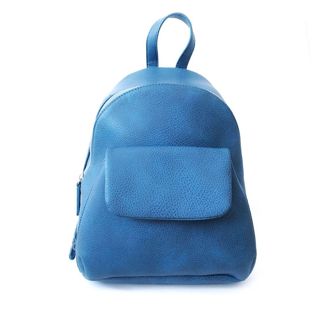 f409a669c579 Синий кожаный рюкзак, портфель в стиле casual, спортивный - ТОРГОВАЯ МАРКА  ELKA в Киеве