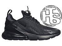 Мужские кроссовки Nike Air Max 270 Flyknit Triple Black AH8050-005