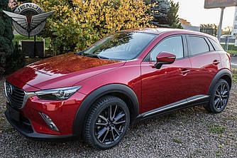 Хром молдинги листва на двери Mazda CX-3