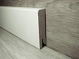 Плинтус белый напольный МДФ прямой 14х60х2400мм, ламинированный, фото 2