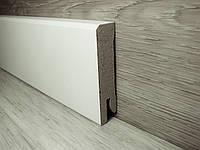 Плинтус МДФ белый напольный 14х60х2400мм