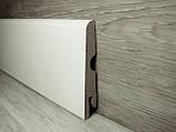 Плинтус белый напольный МДФ косой 14х70х2400мм., ламинированный, фото 2