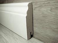 Плинтус напольный МДФ белый фигурный 18х80х2400мм