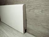 Плинтус белый напольный МДФ скошенный 15х80х2400мм., ламинированный, фото 2