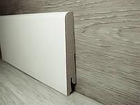 Плинтус для пола широкий МДФ Белый 15х80х2400мм