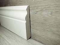 Плинтус напольный МДФ Белый фигурный 14,2х80х2400мм