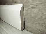Плинтус белый напольный МДФ декоративный 14,2х80х2400мм., ламинированный, фото 2