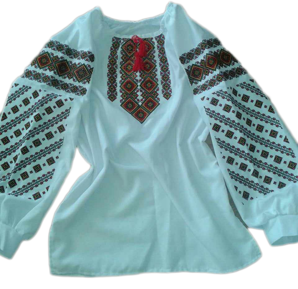 """Женская вышитая рубашка """"Норсей"""" BU-0001"""