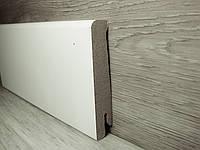 Плинтус прямой для пола МДФ Белый 16,2х80х2400мм