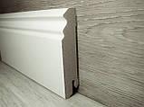 Плинтус белый напольный МДФ фигурный 18,2х85х2400мм, фото 2
