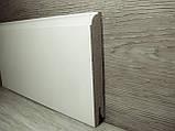 Плинтус белый напольный МДФ высокий 14.2х95х2400мм., ламинированный, фото 3
