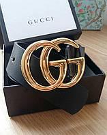 Ремень Gucci 3,7 см кожаный черный