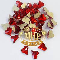 Стразы для инкрустации Сердце 6mm, цвет Lt Siam, *1шт