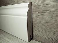 Плинтус напольный высокий фигурный МДФ белый 18х100х2400мм