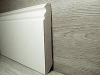 Плинтус МДФ Белый напольный высокий 18,2х115х2400мм