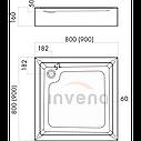 Душевой поддон Invena 90x90 квадратный акриловый, фото 3
