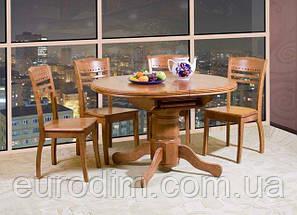 Стол обеденный А-17  ольха,темный орех, фото 2