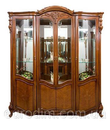 Витрина 4-дверная 8670 500 х 1920 х 2200 орех, фото 2