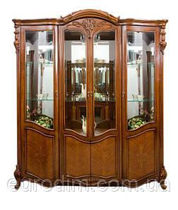 Витрина 4-дверная 8670 500 х 1920 х 2200 орех