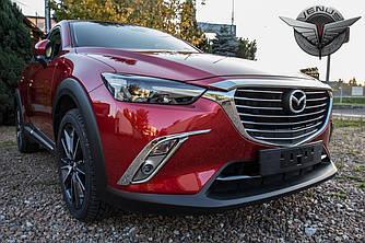 Хром рамки на противотуманки Mazda CX-3