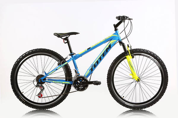 "Горный велосипед TOTEM SHARK 24"", 13""  Голубой/Желтый"