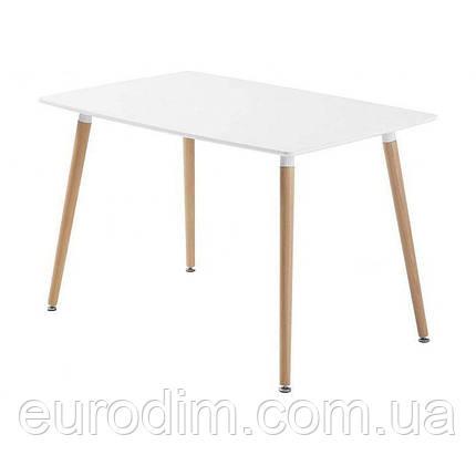 Стол NOLAN DT-9017 прямоугольный  белый 120 см, фото 2
