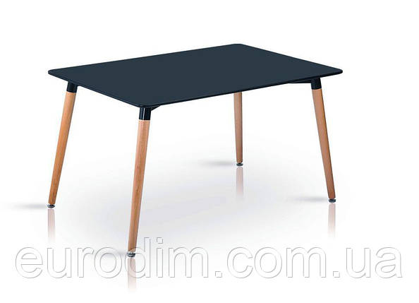 Стол NOLAN DT-9017 прямоугольный черный, фото 2