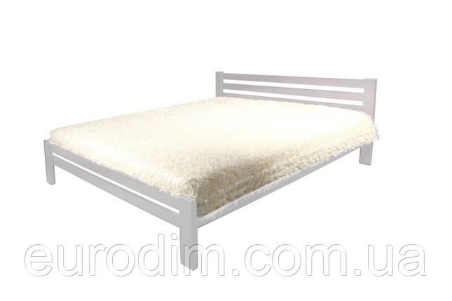 Кровать Классик (1400*2000) щит сосна 1500 x 2090 x 800 белый, фото 2