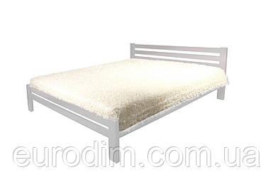 Кровать Классик (1400*2000) щит сосна 1500 x 2090 x 800 белый