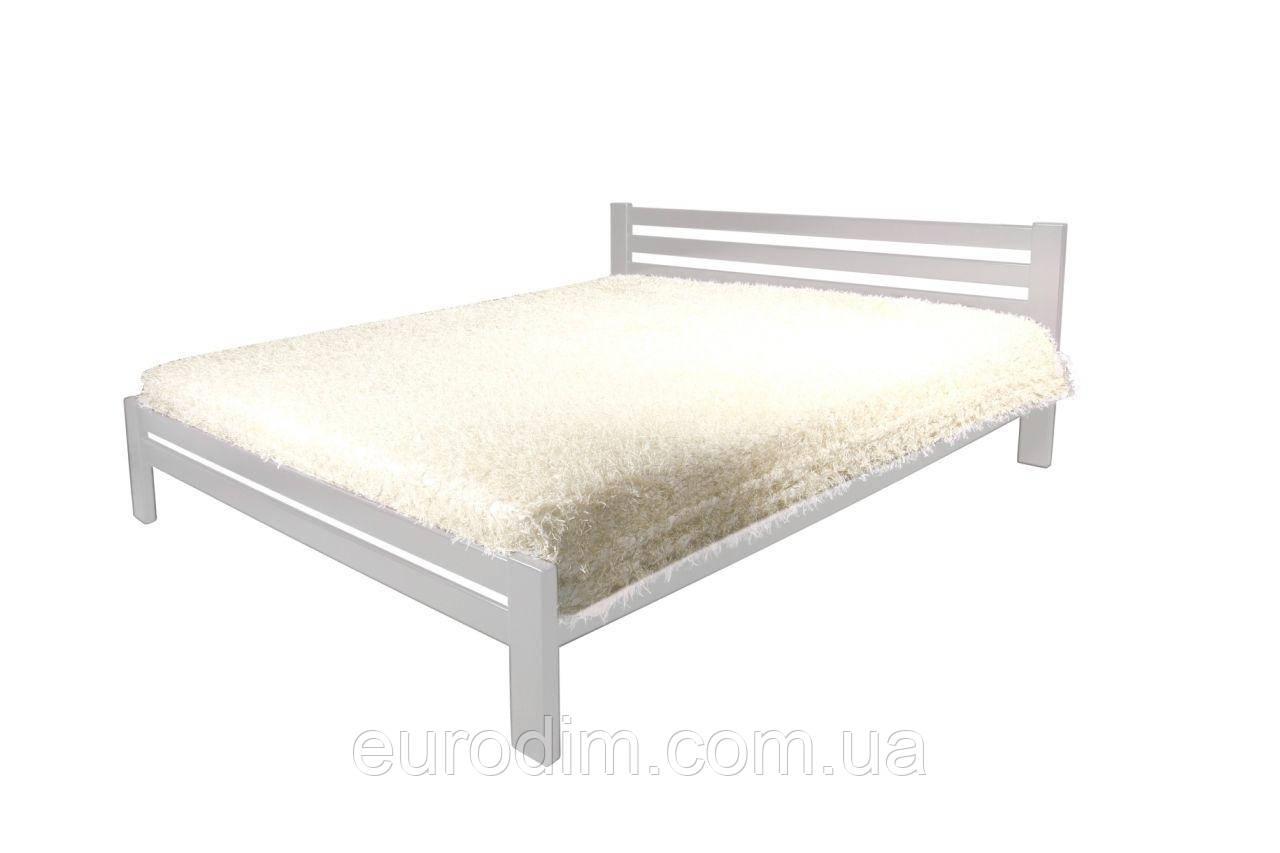 Кровать Классик(1600*2000) щит сосна 1700 x 2090 x 800 белый
