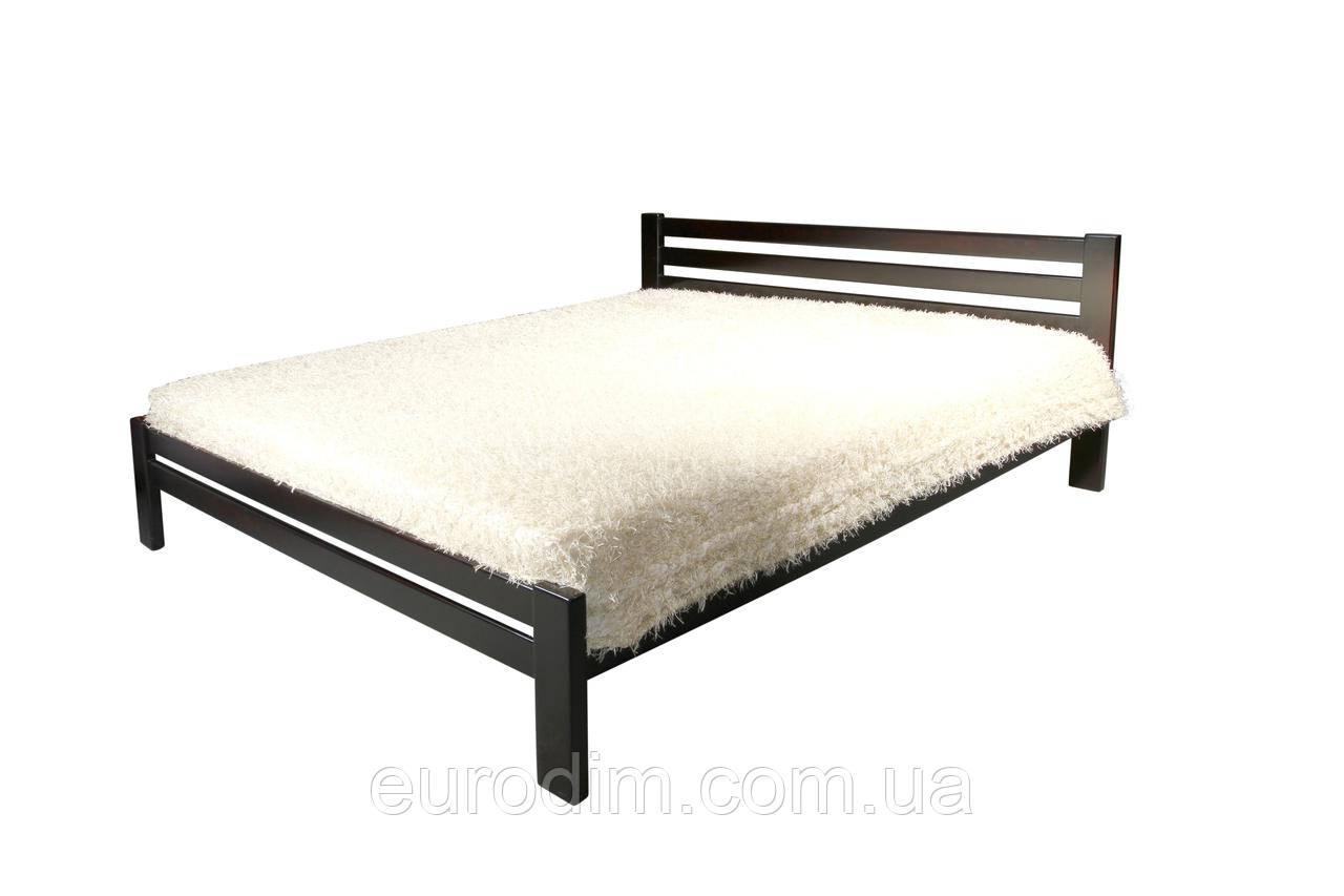 Кровать Классик (1800*2000) щит сосна 1900 x 2090 x 800 орех темный, венге