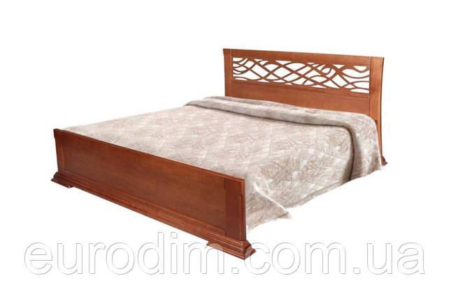 Кровать Лиана Нова 1600 х 2000 орех, темный орех, фото 2