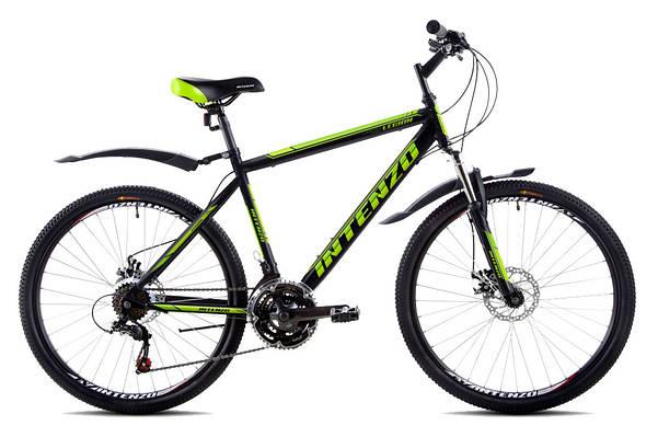 """Горный велосипед INTENZO LEGION 26"""", 21""""   Черный/Салатовый"""