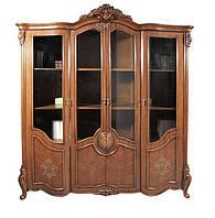Книжный шкаф 4х дв.Chester 8668 510 х 1920 х 2300 орех