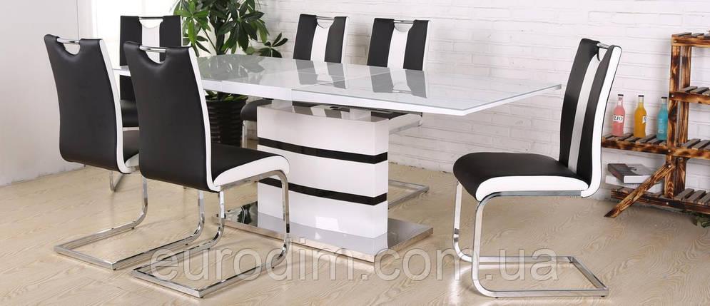 Стул кухонный Орландо DS - 1007-1 Black+White, фото 2