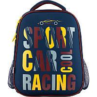 K18-531M-1 Рюкзак школьный каркасный 531 Car racing